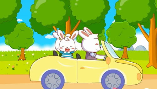 兔小贝儿歌数星星谱子