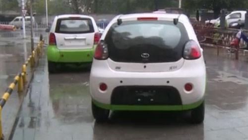 长沙两百辆电动汽车拖入租赁