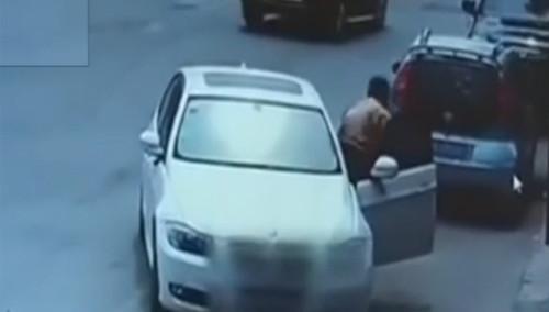 男子开宝马偷手机 被抓包称拿错了不值当