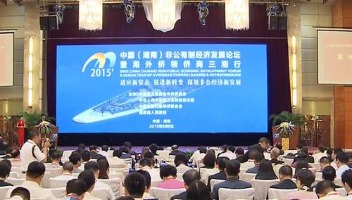 2015中国非公有制经济发展论坛在长沙开幕 陈昌智致辞