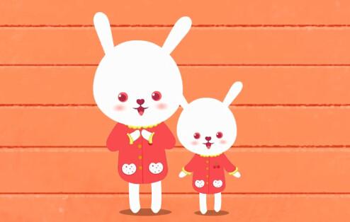 小兔子剪纸步骤图纸法图解