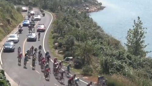 2015环中国国际公路自行车赛湖南赛段结束