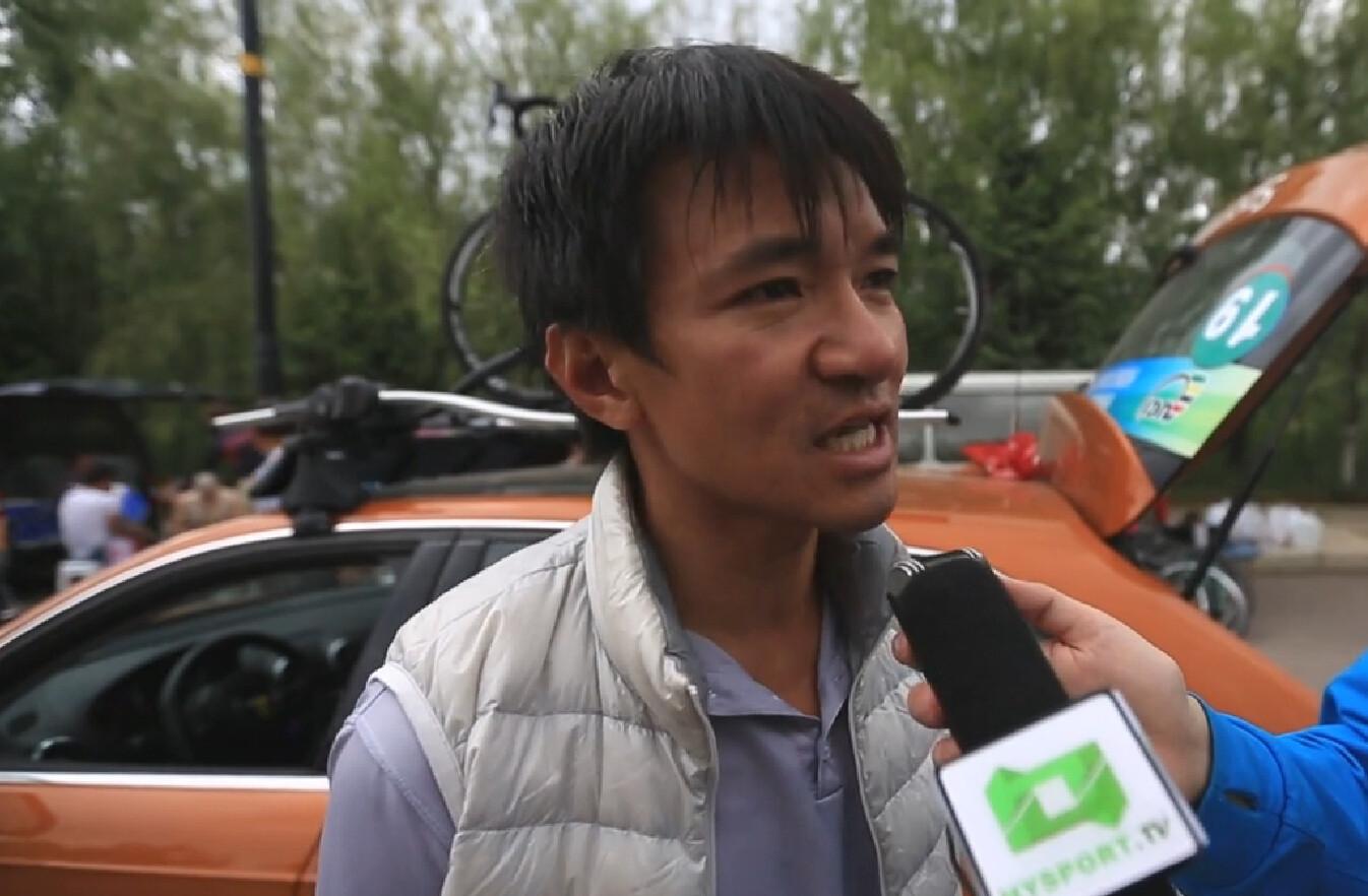 2015环青海湖国际公路自行车赛:香港职业自行车队教练黄金宝采访